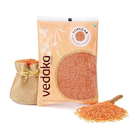 Amazon Brand - Vedaka Popular Red Masoor Dal Split