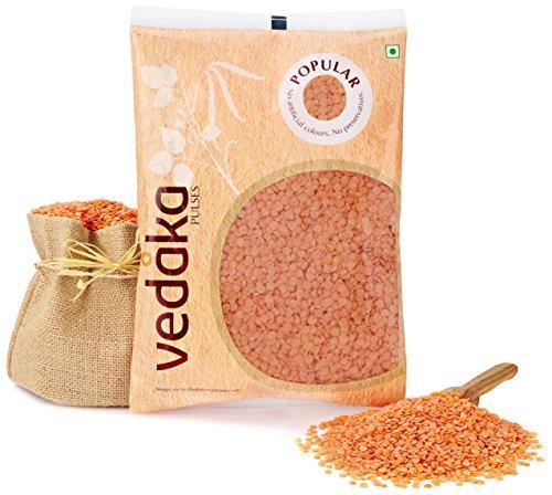 Amazon Brand – Vedaka Popular Red Masoor Dal Split, 1kg