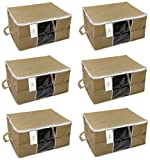 #4: HomeStrap Underbed 6 Piece Non Woven, Storage Bag, Large, Beige