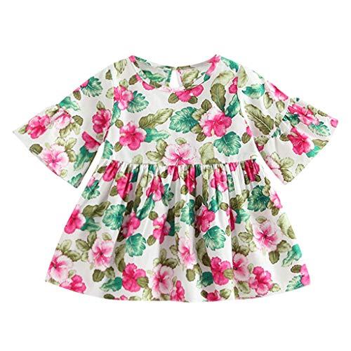 nder Baby Mädchen Kleid Mode Blumendruck Schlagärmel Prinzessin Casual Baumwollkleid Outfits 0-4 Jahre ()