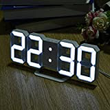 Saysha Modern Digital Led Table/Wall Hanging Alarm Clock Watch, 24 Or 12-Hour Display