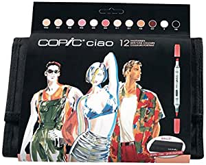 Copic marqueurs Ciao Set Manga Trousse 12 couleurs Tons Chairs