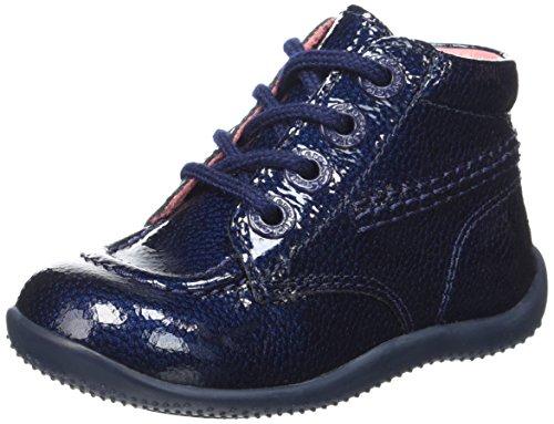 Kickers Billista, Chaussures Premiers Pas Bébé Fille, Bleu (Marine/Vernis), 21 EU