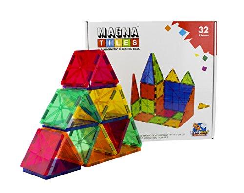 FLYING START Magna Tiles 3D Magnetic Construction Building Blocks (32 Pcs)