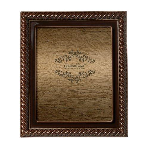 Grasslands Road Mahagoni Roped Foto Rahmen, 8von 25,4cm, eingetaucht Glasur, Keramik, in Geschenkbox