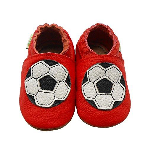 Sayoyo football chaussures de bébé en cuir souple chaussures semelle douce