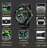TOPCABIN Jungen Uhren Mädchen Uhren Kinder Armbanduhr Jungen Digital Analog Wasserdicht Sports Uhren für Jungen und Mädchen Digital Uhr Sports Uhren Grün Vergleich