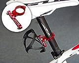DSstyles Fahrrad Wasserflaschenhalter Alu-Adappter - Alu-Gestell für Flaschenkäfig - Radfahren Wasserflasche Käfig Clamp Lenker Rack Halterung für Fahrrad Mountain Road Bike - rot