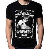 Photo de Men Fashion t-Shirt Jim Morrison Show Me The Way to Next Whiskey Bar Doors Logo Men's T-Shirt Men Casual Shirt par Ant
