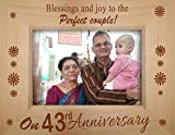 Best Grandparents Picture Frames - TiedRibbons 43rd Wedding Anniversary Gift GrandParents Photo frame Review