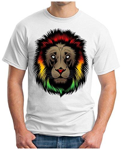 OM3 - REGGAE-LION - T-Shirt GEEK, S - 5XL Weiß