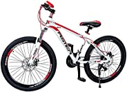 Aster L600 Mountain Bike - White Red (24 Inch)