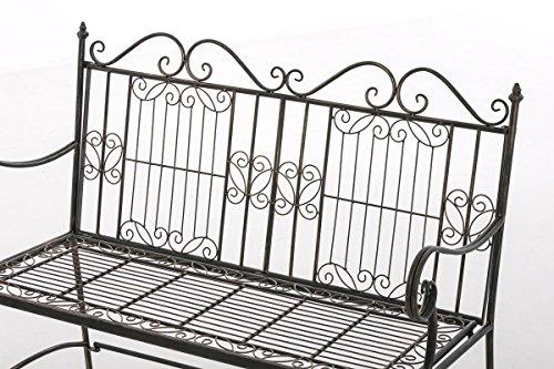 CLP Eisen-Gartenbank ADELE im Landhausstil, aus lackiertem Metall, 107 x 54 cm Bronze - 4