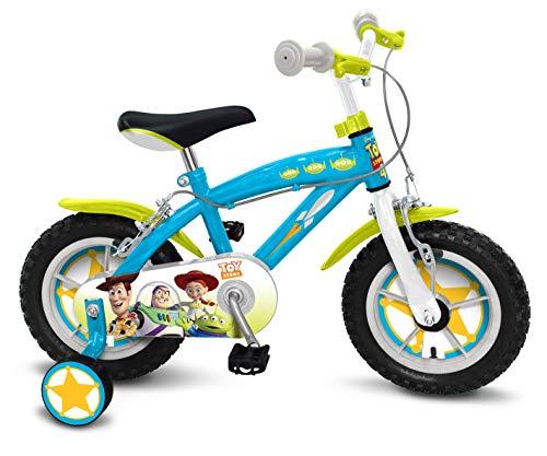 (Stamp Woody-Buzz L'ECLAIRE-Jessie Fahrrad Toy Story 4 35,6 cm (14 Zoll) (aufblasbare Reifen + Nylon Bush + Bremsen Caliper), C867020NBA, Blau, Grün)