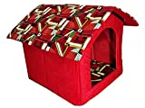 Pets Empire PORTABLE SMALL DOG HOUSE - Soft, warm and comfortable and goes everywhere(Color & Design May Vary)