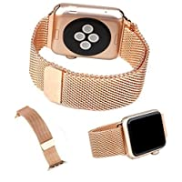 Apple Watch Band, DRUnKQUEEn 38mm Milanese Loop Stainless Steel Smartwatch Bracelet Strap Band for 38mm Apple Watch & Sport & Edition with Unique Fully Magnetic Lock Closure (No Buckle Needed)