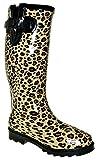 Bootsland S4 Sexy Gummistiefel Regenstiefel Damenstiefel Leopard Look, Schuhgröße:41