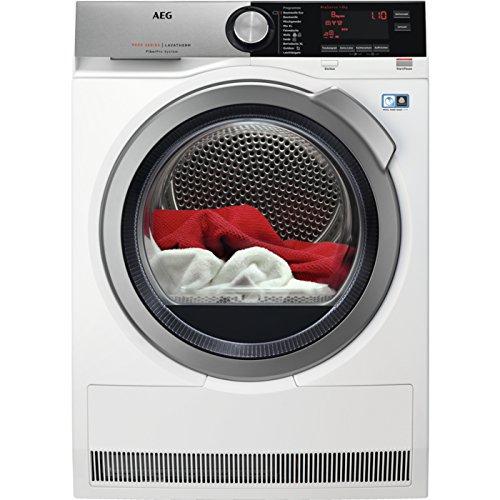 AEG T9DE87685 Wärmepumpentrockner/Energieeffizienzklasse A+++/176 kWh pro Jahr/schonend getrocknete und knitterarme Wäsche mit FiberPro-System/SensiDry-Technologie/weiß