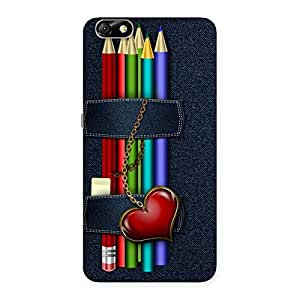 Stylish Denim Pencil Print Back Case Cover for Honor 4X
