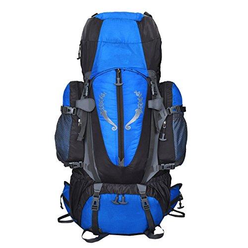 ALICE Yy.f Professionelle Bergsteigen Taschen 85L Stehen Beutel Taktischen Militärischen Rucksack Outdoor-Sporttasche Angriff Rucksäcke Jagd Camping Wandern. Multicolor Blue