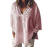 Riou sweater Chemisier Femme Manches Longues Tunique Button Up Shirt Rayé Chemise Col V Top Blouse Mode Multicolore Chic Chemisier Classique Top