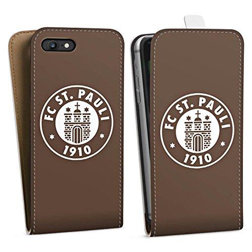 Apple iPhone 7 Hülle Case Handyhülle FC St. Pauli Fanartikel Fußball Downflip Tasche weiß