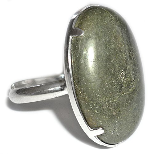 Anello argento & pyrite