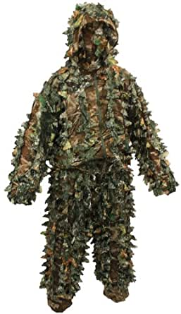 Nitehawk Kids/Childrens 3D Leaf Suit Camo/Camouflage with Mask - XL 13-15 Yrs