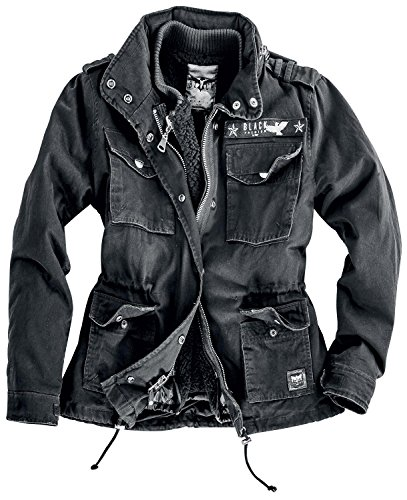 Black Premium by EMP Ladies Army Field Jacket Giacca donna nero XS