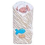 Sevira Kids Baby Mädchen Schlafsack Braun braun Dès la naissance - 3/4 mois environ (75x75 cm)
