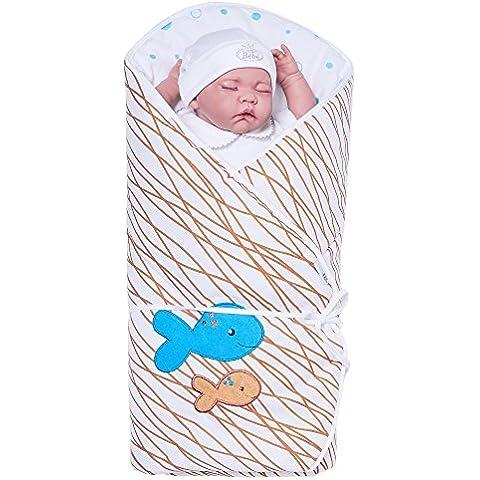 Sevira Kids–Sacco nanna multiuso in 100% cotone–Nido d' angelo nascita oceano
