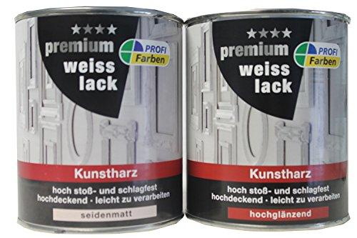 Kunstharz-Weißlack  <strong>Anwendungsbereich</strong>   Außen, Innen