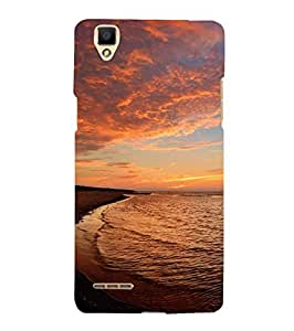 YuBingo Oppo F1 :: A35 Designer Phone Back Case Cover ( Sun and Water )
