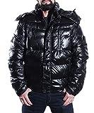 Jungen Herren Jacket Jacke Winterjacke Sportjacke Wärmejacke Steppjacke mit Kapuze Schwarz M