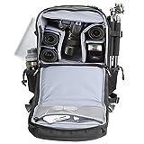 Evecase Extragroßer DSLR Kamerarucksack für Spiegelreflexkameras und Zubehör mit Regenschutz, Stativhalterung, Laptopfach, Zubehörfächer, Herausnehmbare Trennwand - Schwarz Vergleich