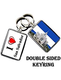 I HEART SAN SALVADOR KEYRING THE CAPITAL CITY OF EL SALVADOR LLAVERO