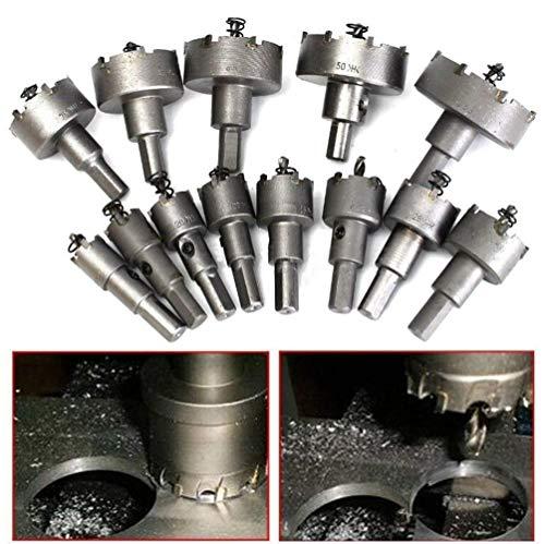 13Pcs 16mm-53mm Edelstahl Hartmetall Spitze TCT Metall Bohrer, Bohrloch Säge Set