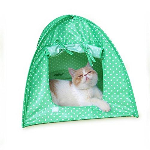 Maison pour chien UEETEK Tente pour petit chien et chats pliable intérieur et extérieur Abri petits animaux (Vert)