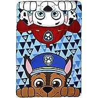 Manta de Forro Polar, diseño de Chase y Marshall de La Patrulla Canina, poliéster, tamaño Individual
