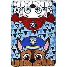 Manta de forro polar, diseño de Chase y Marshall de La Patrulla Canina, poliéster, multicolor, tamaño individual