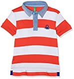 United Colors of Benetton Jungen Poloshirt H/s Polo Shirt, Rot (Red/White), 8-9 Jahre (Herstellergröße: Large)
