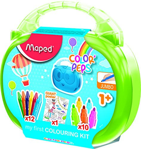 Maped M897416 - Malset Kids-Box, Color'Peps, 12er Fasermaler