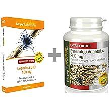 SimplySupplements Co-Enzyma Q10 100mg 60 Cápsulas + Estreoles vegetales 800mg 120 Comprimidos | Para un corazón sano