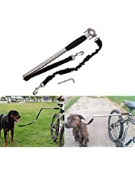 Eximtrade Vélo Bicyclette Exerciseur Laisse Chiens Mains Libres Jogging Entraînement