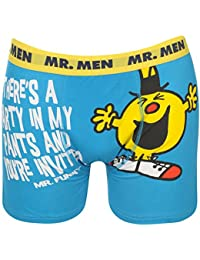 1 Pack Mens Printed Mr Men Boxer Shorts Trunks Underwear