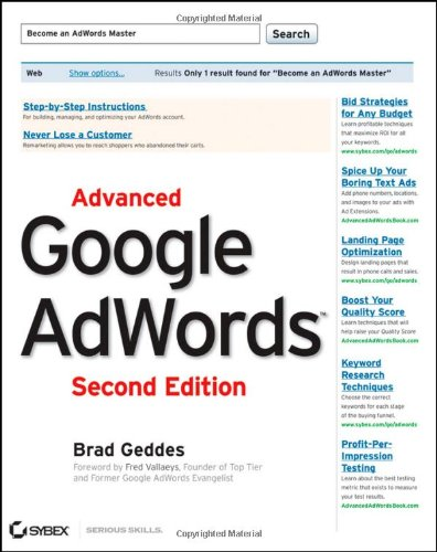 Advanced Google AdWords por Brad Geddes