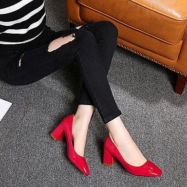 Talloni delle donne Primavera Estate Altro similpelle per ufficio e del partito Carriera & abito da sera tacco grosso Nero Rosa Rosso Altri Black
