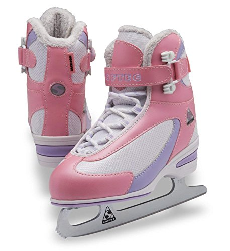 (Toddler Medium 10, Pink) - Jackson Ultima Softec Classic Junior ST2321 Kids Ice Skates / Available colours: Black, White, Navy, Pink
