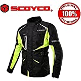 Scoyco JK42 Bike Protective CE Certified Ladakh/Spiti Touring Jacket-Black and Green Size-42