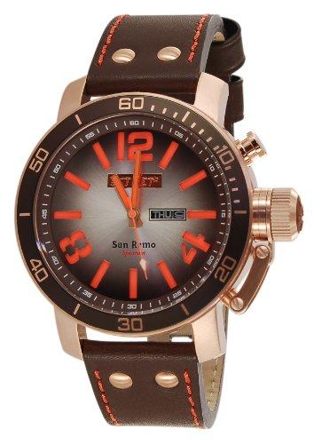 Jet Set J32803-766San Remo Mens Watch–Analogue Quartz–Brown Dial–Brown Leather Bracelet